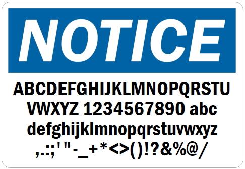 英語や数字・記号でアメリカンなオリジナルマグネット看板が作れるオーダーメイドのマグネットサイン(使用できる文字と字体レタリック)