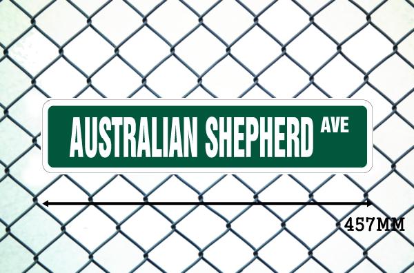 オーストラリアンシェパード 英語看板 アメリカ道路標識 ストリートサインボード