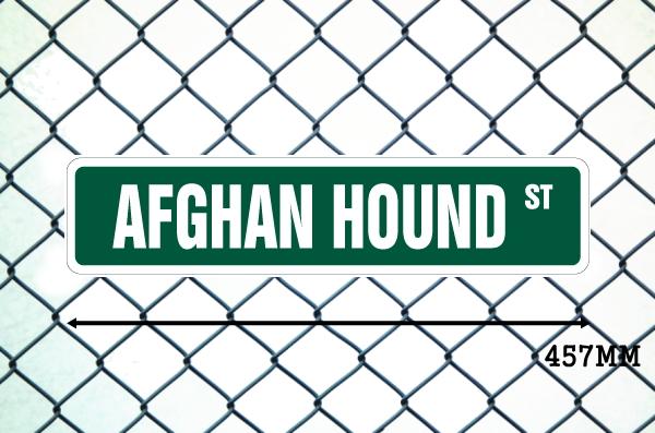 アフガンハウンド 英語看板 アメリカ道路標識 ストリートサインボード