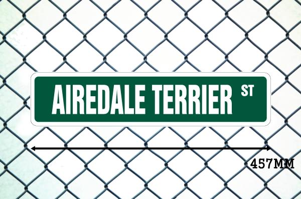 エアデールテリア 英語看板 アメリカ道路標識 ストリートサインボード