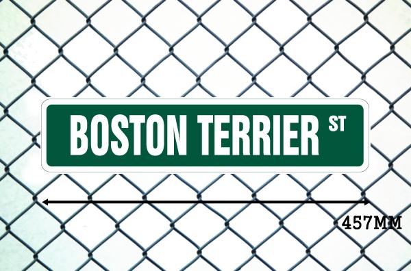 ボストンテリア 英語看板 アメリカ道路標識 ストリートサインボード