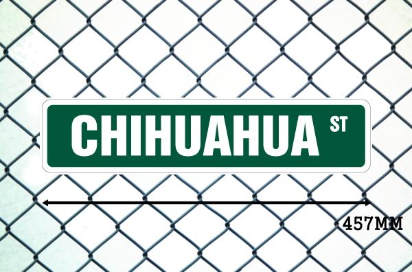 チワワ 英語看板 アメリカ道路標識 ストリートサインボード