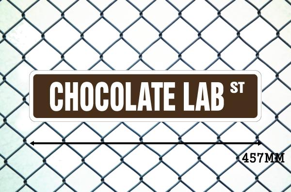 チョコレートラブ 英語看板 アメリカ道路標識 ストリートサインボード