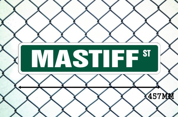 マスティフ 英語看板 アメリカ道路標識 ストリートサインボード
