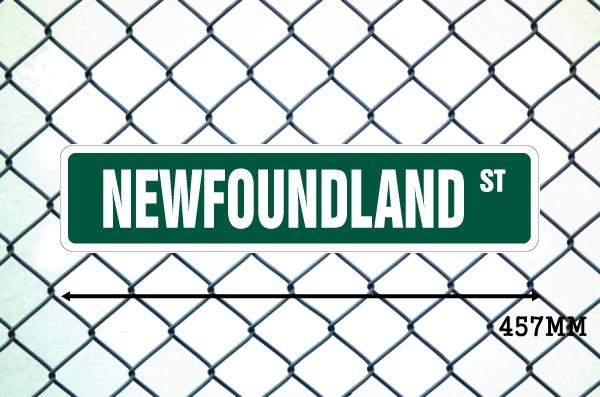 ニューファンドランド 英語看板 アメリカ道路標識 ストリートサインボード