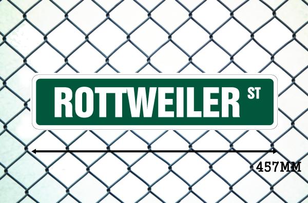 ロットワイラー 英語看板 アメリカ道路標識 ストリートサインボード
