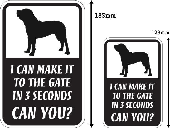 CAN YOU?マグネットサイン:土佐犬