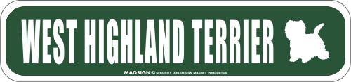 WEST HIGHLAND TERRIER ストリートマグネットサイン:ウエストハイランドテリア