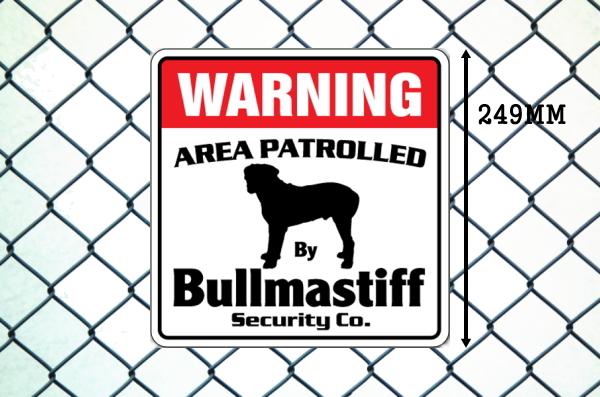 ブルマスティフ警備会社看板 英語注意書き アメリカ輸入サインボード