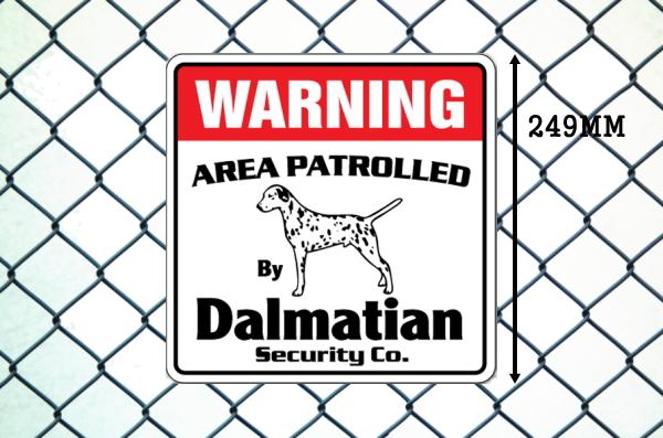ダルメシアン警備会社看板 英語注意書き アメリカ輸入サインボード