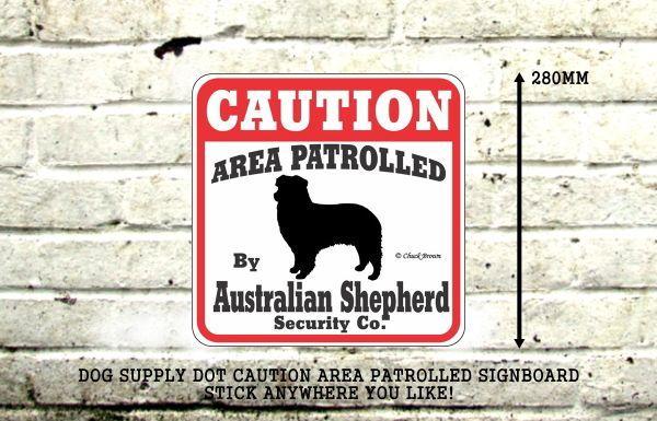 オーストラリアンシェパード注意 英語看板 アメリカ輸入サインボード