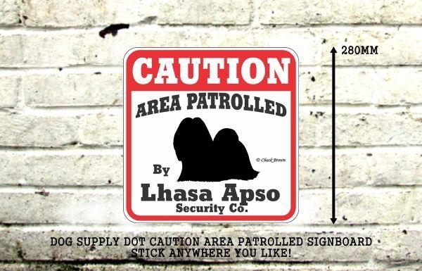 ラサアプソ注意 英語看板 アメリカ輸入サインボード