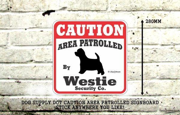 ウェスティー注意 英語看板 アメリカ輸入サインボード